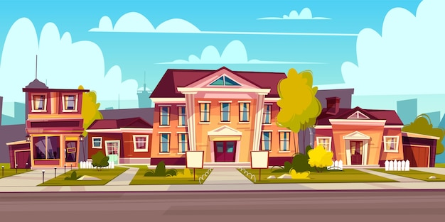 Rental of a house Free Vector