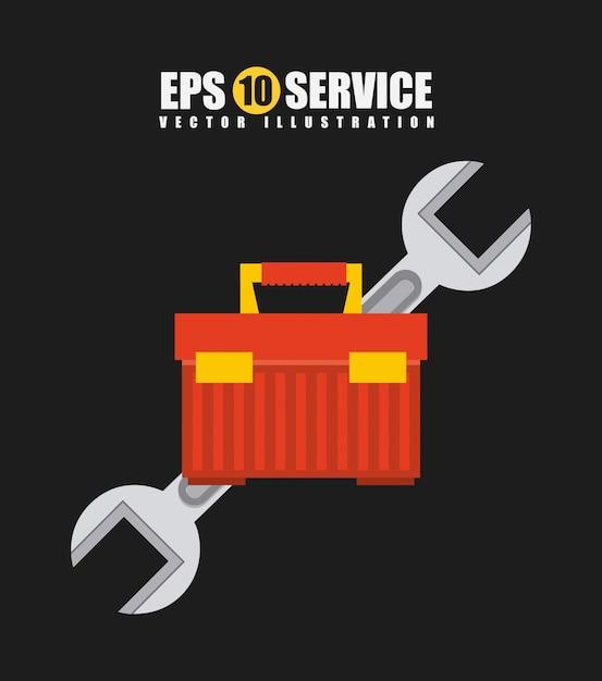 Дизайн ремонтных услуг Premium векторы