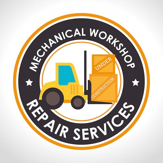 Repair service illustration Free Vector