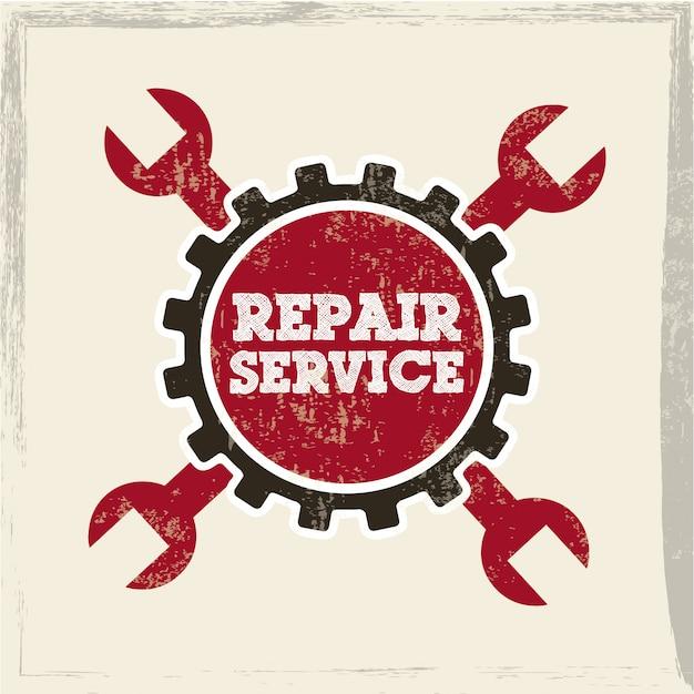 Repair service over white background vector illustration Premium Vector