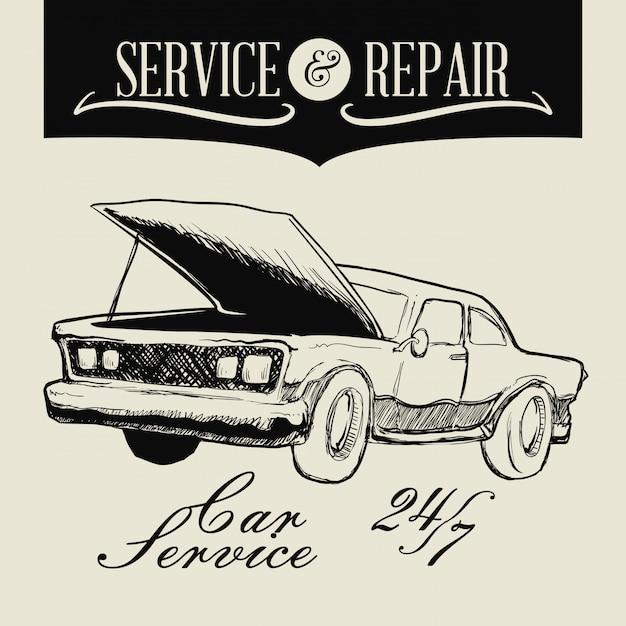 Repair service Premium Vector