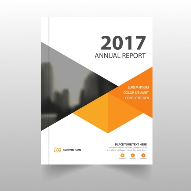 Report template with geometric shapes Vector Free Download