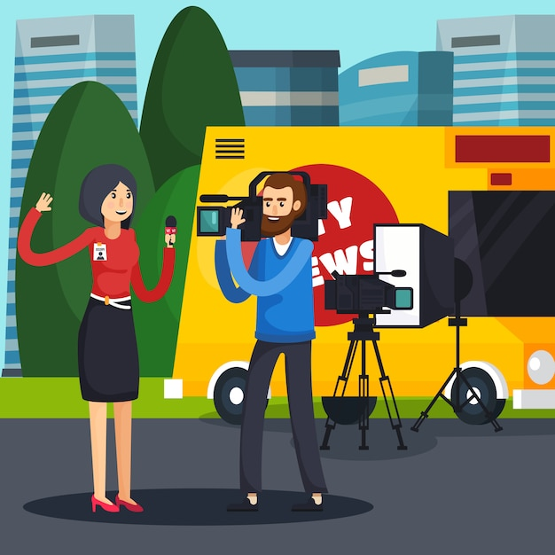 Reporter orthogonal composition Free Vector