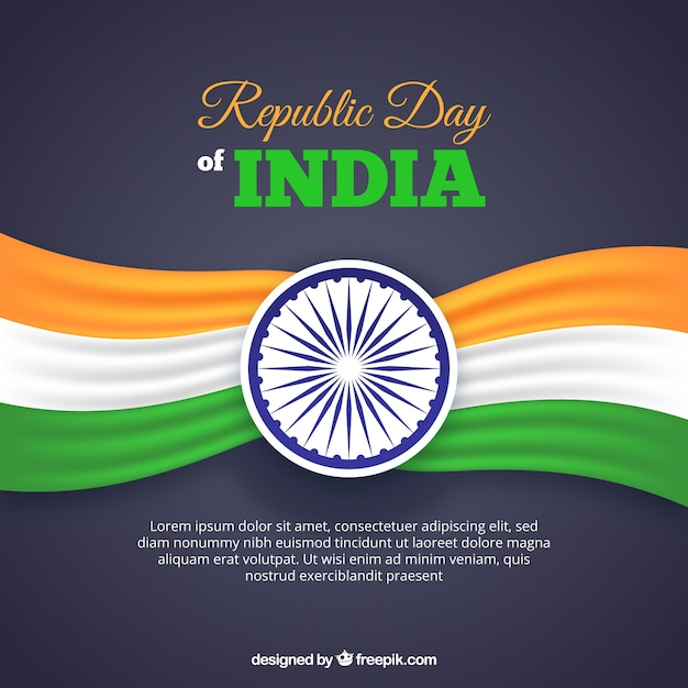 Republic day design with space for text Free Vector