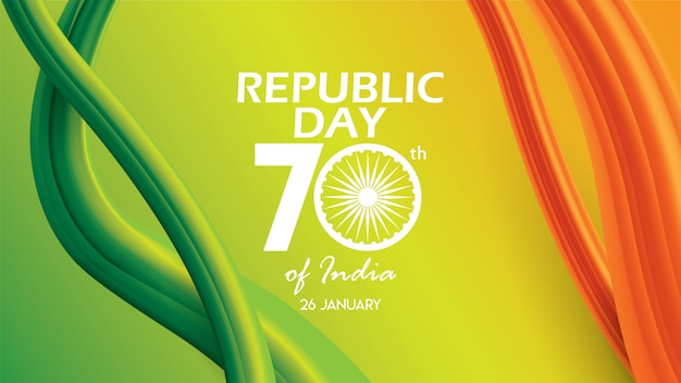 Republic day of india background design banner or poster Premium Vector