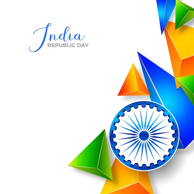Republic day of india modern abstract indian flag Premium Vector