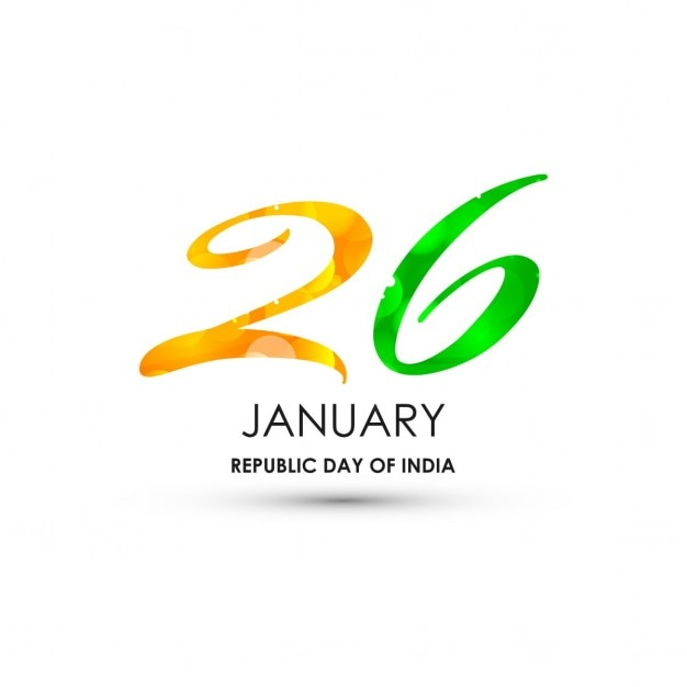 Republic day of india Free Vector