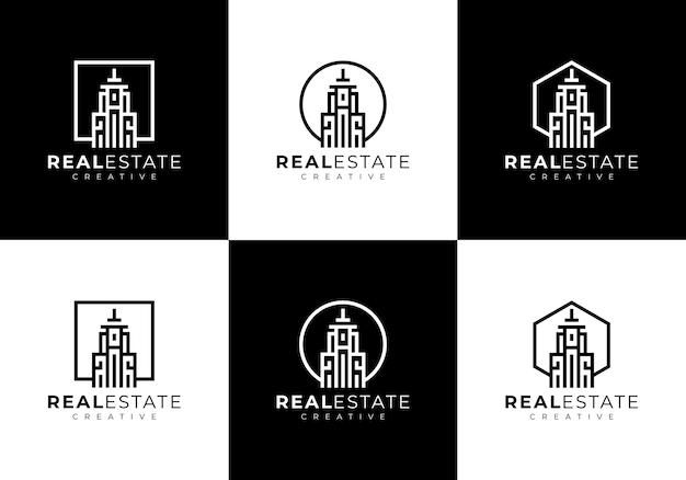 Шаблон логотипа коллекции жилого дома Premium векторы
