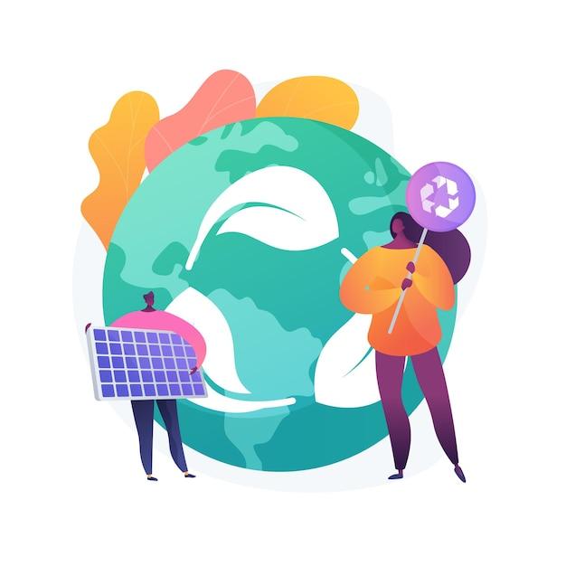 Иллюстрация абстрактной концепции защиты ресурсов. защита природных ресурсов, охрана земель, охрана природы, рациональное водопользование, охрана окружающей среды Бесплатные векторы