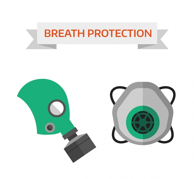 Respiratory protection vector illustration Premium Vector