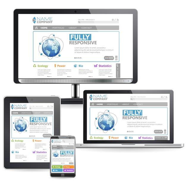 Responsive web design Premium Vector
