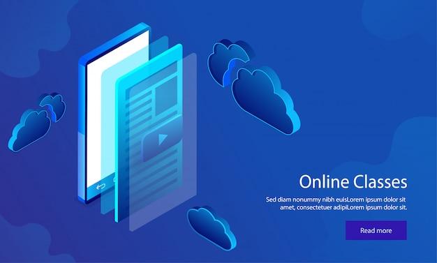 Responsive web template design. Premium Vector
