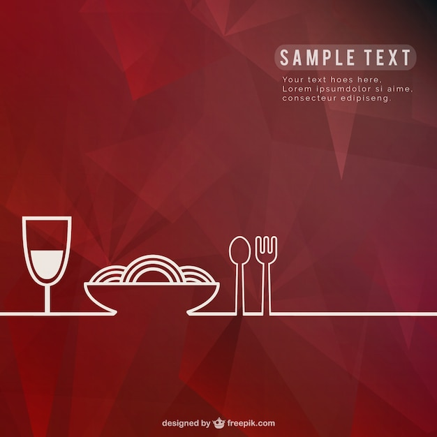 Restaurant background template Free Vector