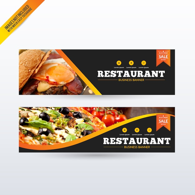 Restaurant banners set Free Vector