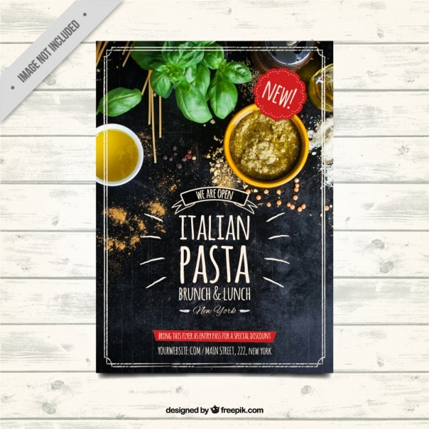 Restaurant Brochure Template In Vintage Style Vector Free Download