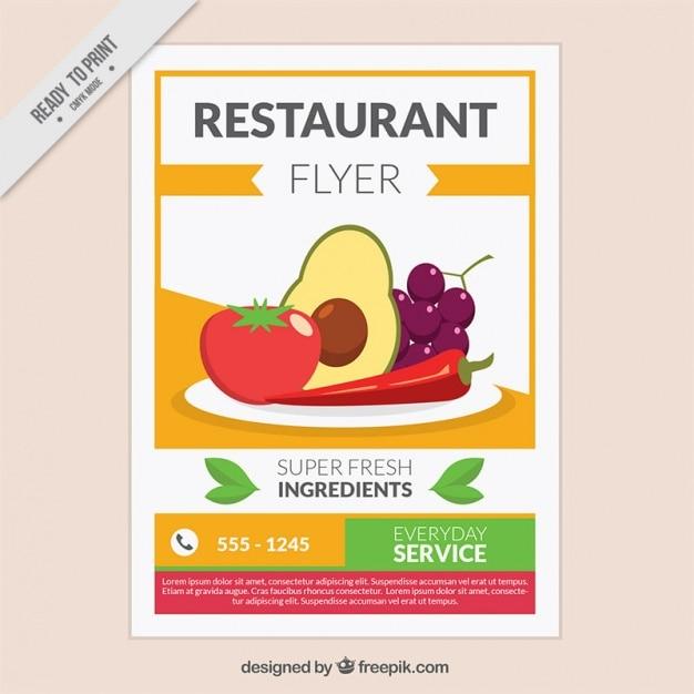 restaurant brochure template vector free download