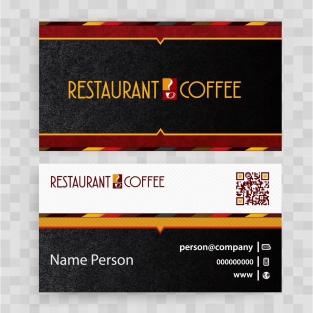Restaurant business card design Free Vector