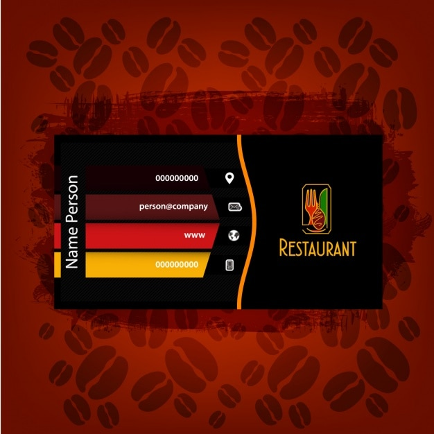 restaurant business card design free vector - Restaurant Business Card