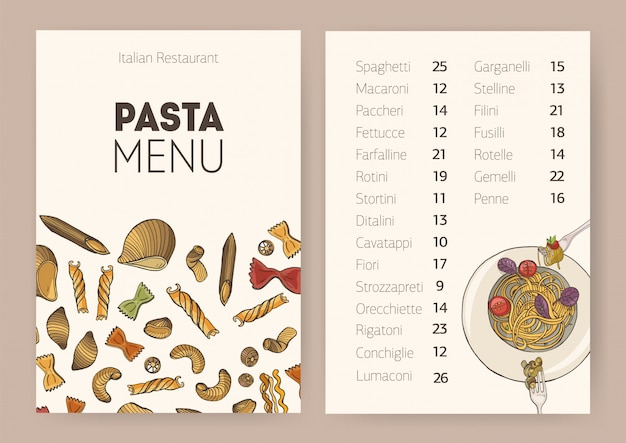 Restaurant or cafe dining menu template with plate Premium Vector