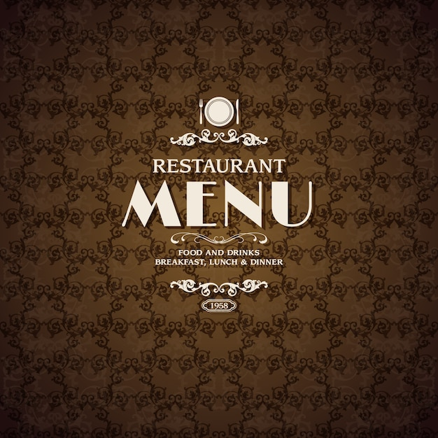 Restaurant menu cover page free vector download (7,700 free vector.