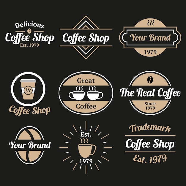 Restaurant coffee vintage logo collection Free Vector