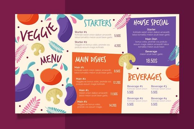 Restaurant colorful menu template Free Vector