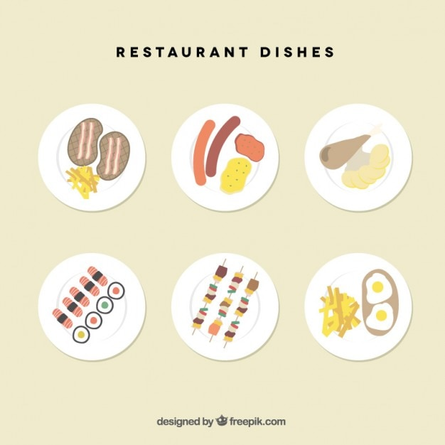 Restaurant dishes collection
