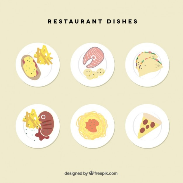 Restaurant dishes set