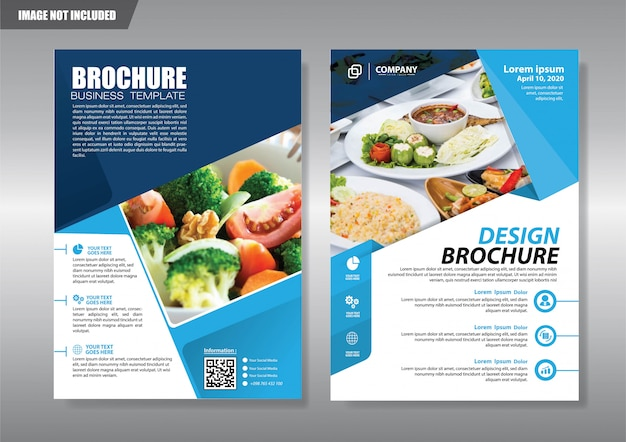 Restaurant flyer with geometric shape Premium Vector