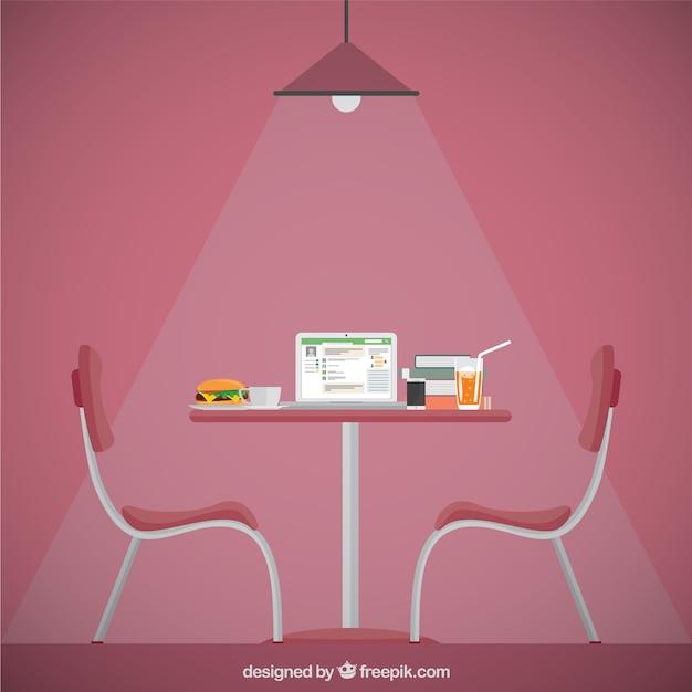 Restaurant furniture vector premium download