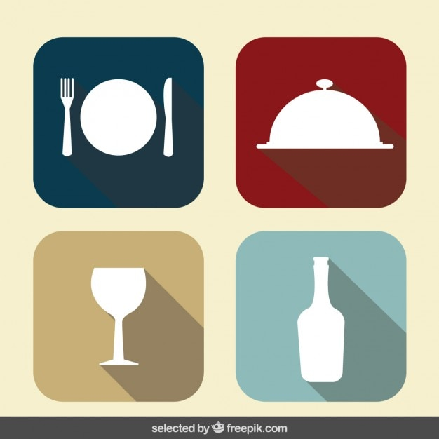 Restaurant icons collection Vector | Free Download