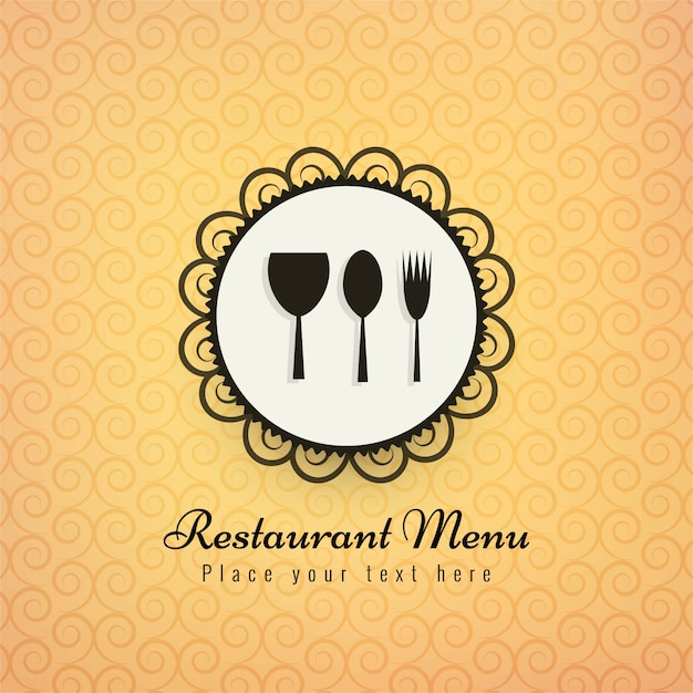 Restaurant icons colorful background vector illustration Free Vector
