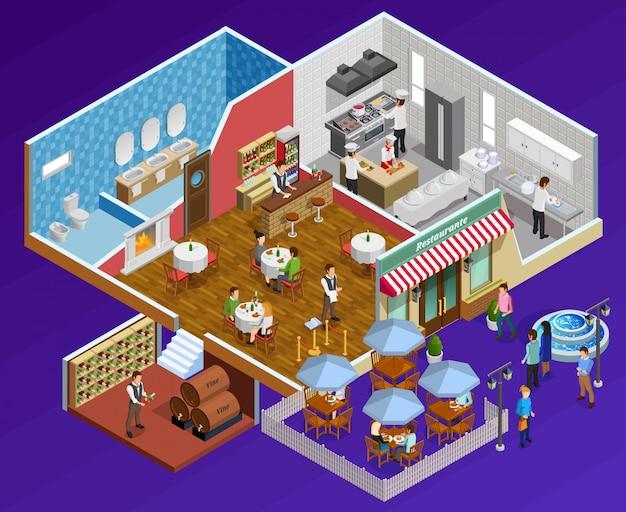 Restaurant interior concept Free Vector
