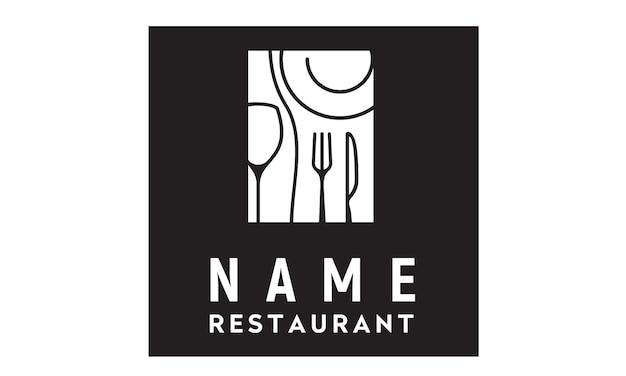 Restaurant logo design inspiration Premium Vector