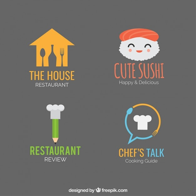 Restaurant logo pretty templates pack