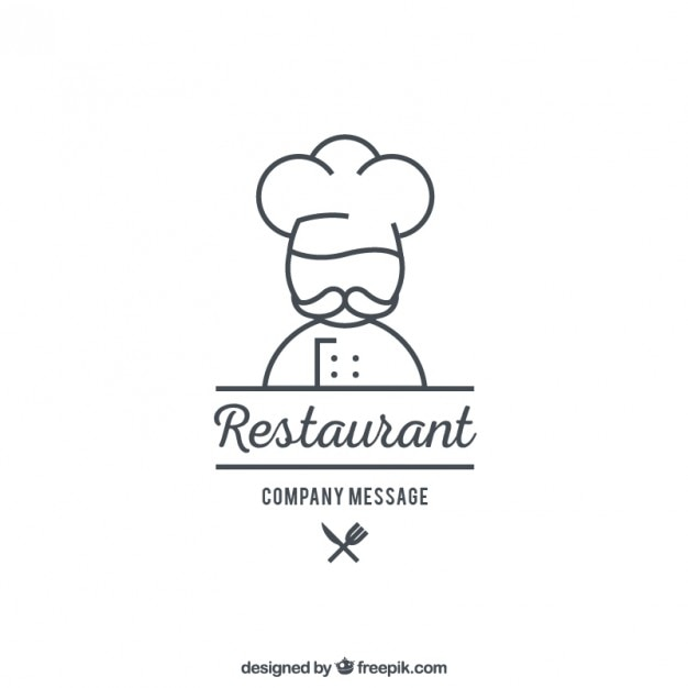 restaurant logo template vector premium download