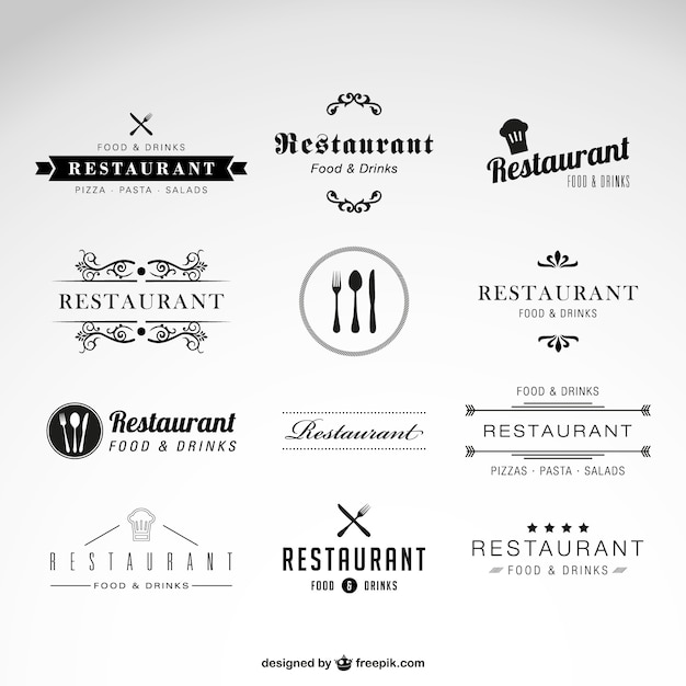 Restaurant Logos Collection Vector Free Download