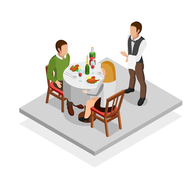 Restaurant meal concept Free Vector