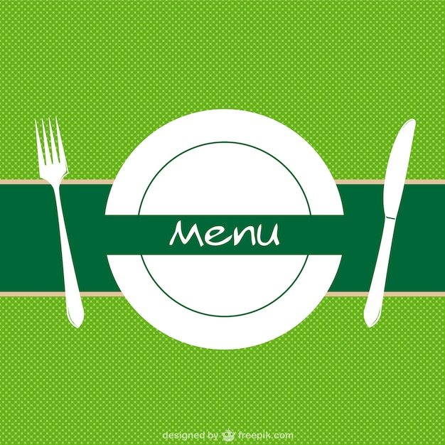 Restaurant menu background vector Free Vector