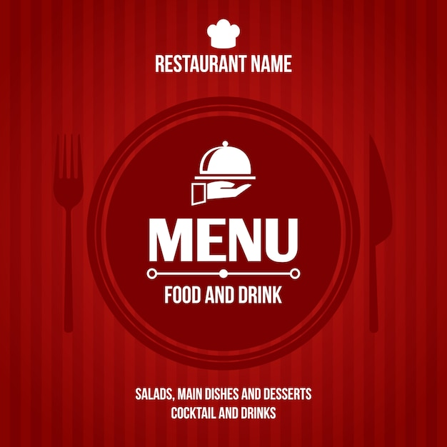 Restaurant menu cover design Free Vector