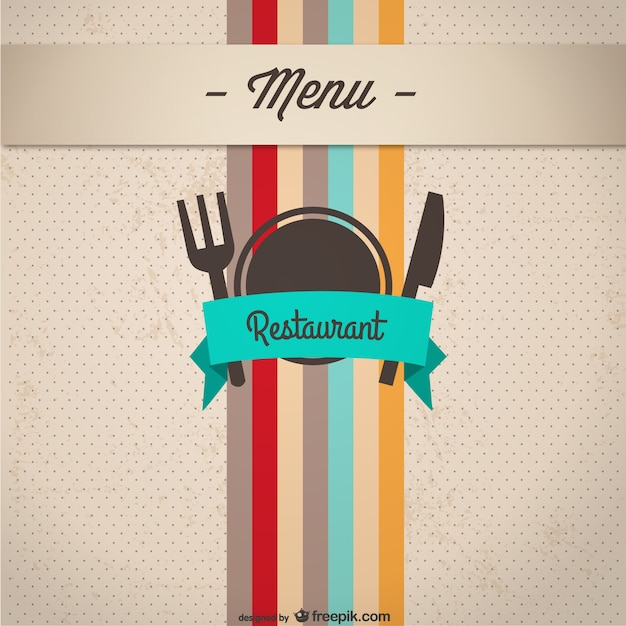 Restaurant Menu Cover Vector Free Download - Powerpoint restaurant menu template free