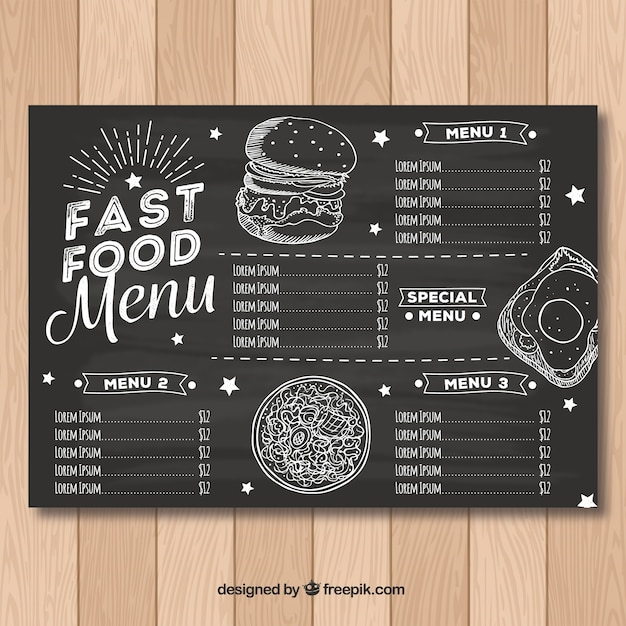 restaurant menu design blank