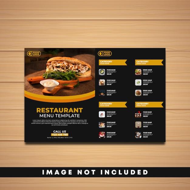 Restaurant menu template Premium Vector