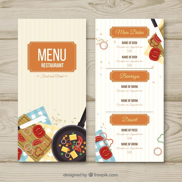Restaurant menu, template