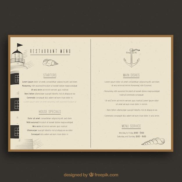 Restaurant menu, vintage style