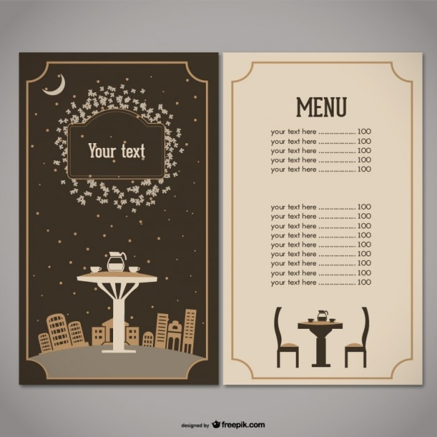 Restaurant menu vector free download