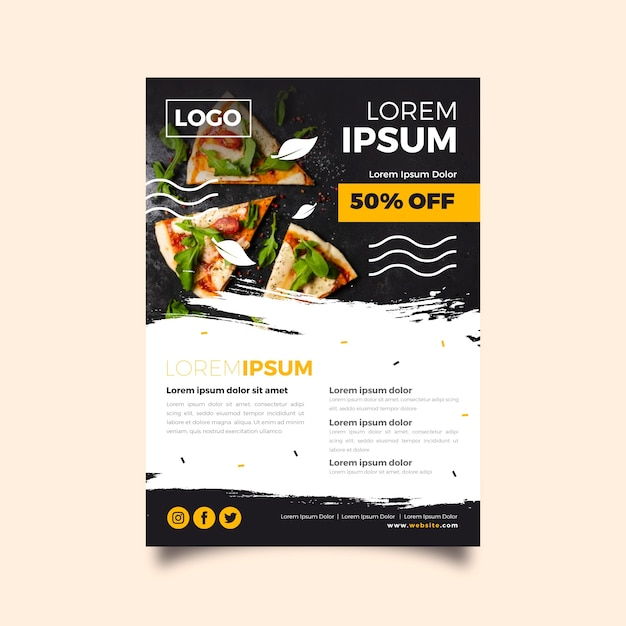 Restaurant poster template Premium Vector