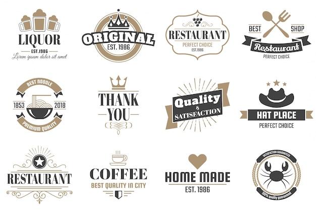 restaurant retro logo for banner vector premium download