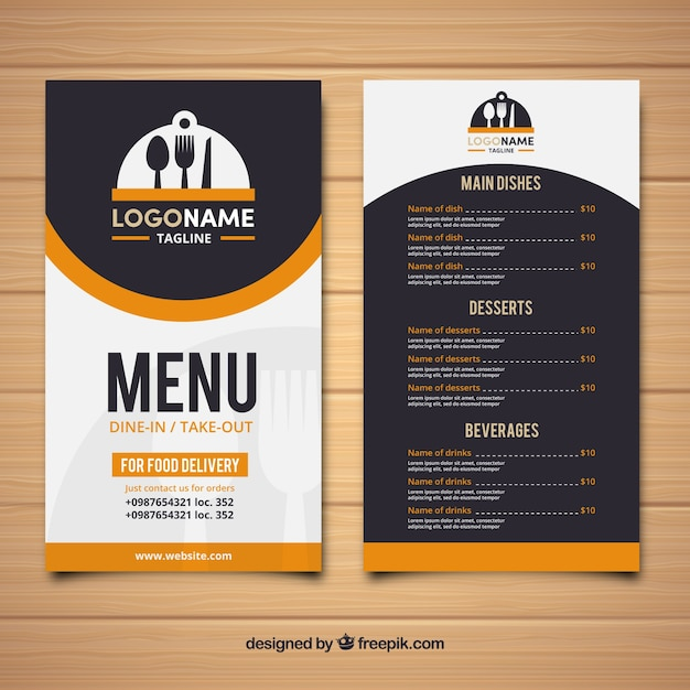 Restaurant Retro Menu Vector  Free Download