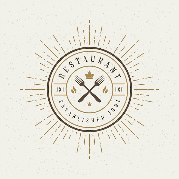 Restaurant shop logotype Premium Vector